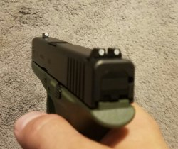 My new Glock 43 with Trijicon HD night sights | NY Gun Forum
